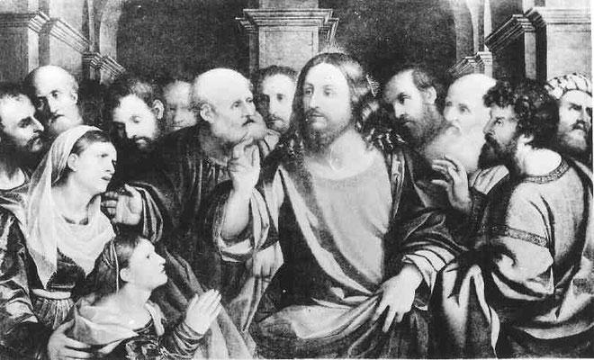 Jacopo Palma il V.(1480-1528), Chr. und die Canaäerin, Accademia Venedig