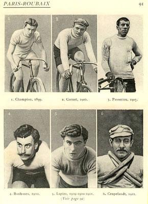 die ersten Sieger des Pais-Roubaix