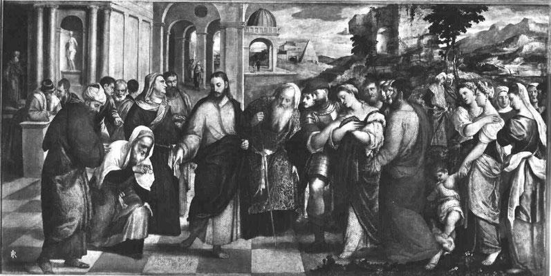Bonifazio Veronese(1487-1553), Brera Milano (Lw.175x340cm ; 1552?)