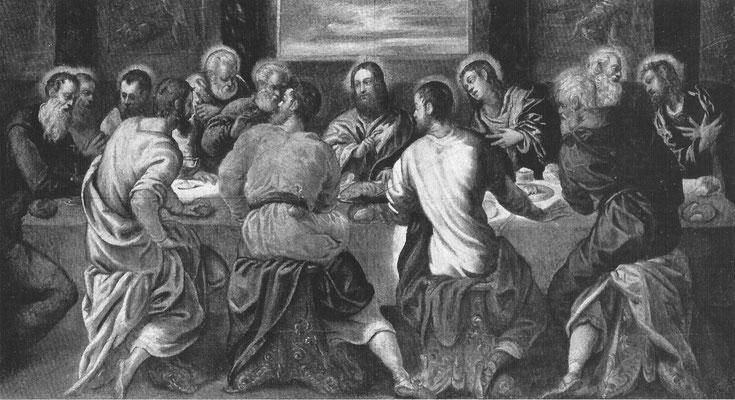 3)Tintoretto-Werkstatt, Ultima Cena ca 1550, privat (P/R 1982, Cat.113)