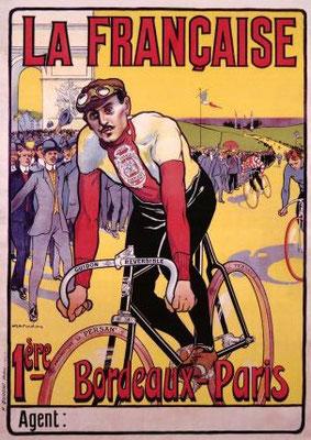 Plakat der Societé La Française1912 (Paris-Bordeaux E.Georget)