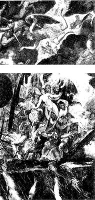 Madonna d.Orto, Giudizio/Diluvio, Details:Erzengel Michael und Seelen-Arreptio
