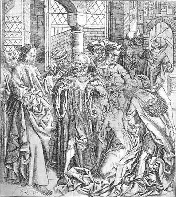Veit Stoss (1440/50-1533 Nürnberg) Kupferstich um 1490