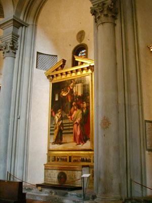 """Sto.Spirito, Florenz, 5.r.Chorkapelle, Adultera-Altar von Alessandro Allori """"1577"""""""