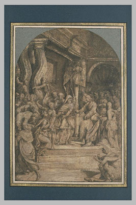 Girolamo Marchesi (1481-ca 1550 Ferrarese) aquarellierte Zeichnung Louvre