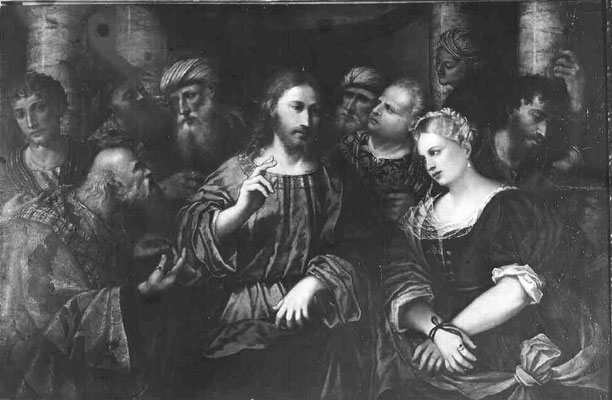 Rocco Marconi (*Treviso-+1529 Venedig), Gall.Naz., Dep.Pal.Venezia, Rom, Holz, 92 x144cm