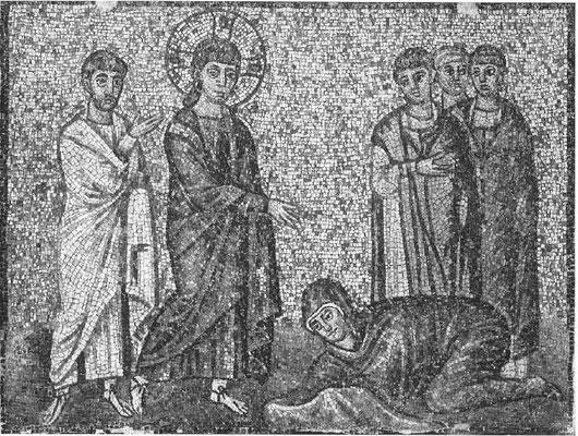 S.Apollinare Nuovo, Ravenna, Mosaik um 520 (ca 110x150cm) Chr. u. Blutflüssige?