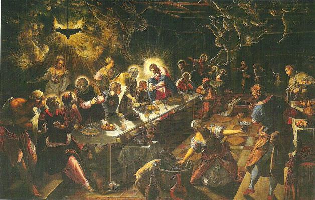 12)Domenico Tintoretto, Ultima Cena 1591-94, Venedig, San Giorgio Maggiore