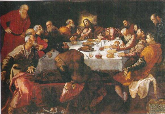 4)Werkstatt Tintorettos, Ultima Cena 1559, Paris St.François-Xavier (ehem.San Felice Venedig)