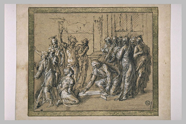 Biagio dalle Lame (Bologna +n.1575) gehöhte & aquar. Federz. ca 1530, Louvre
