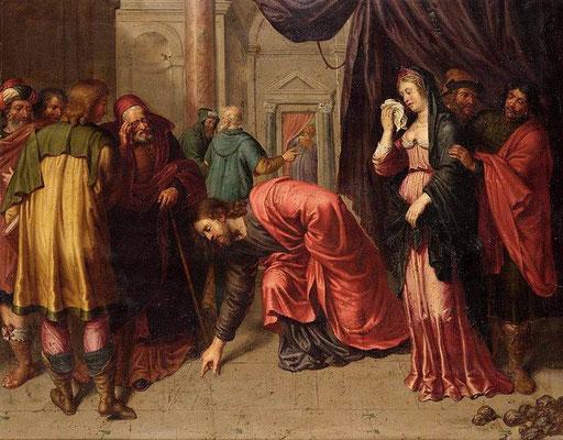 Pieter van Lint (1609-1690) Adultera vor 1690