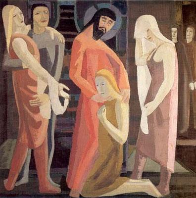 Max Lachnit (1900-1972) Galerie Neue Meister Dresden 1954 (Lw.90x90)