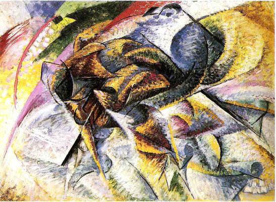 Umberto Boccioni, Dinamismo di un Ciclista 1913, 70x95cm, Milano, Coll.Mattioli