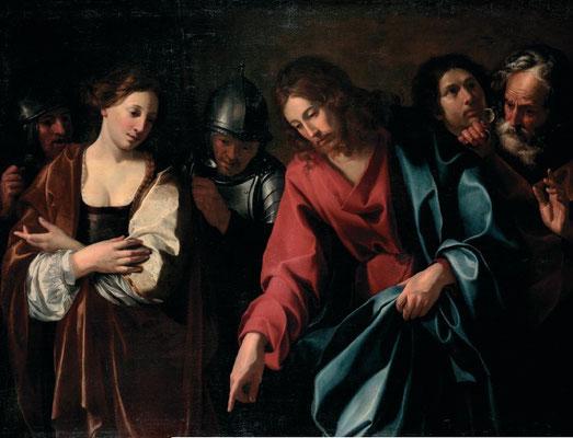 """Nicolas Tournier (1590-1639 Toulouse), Kunsthandel Italien (""""prodotto"""") Lw. 125x174cm"""