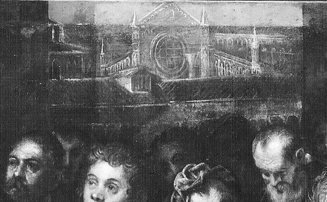 idem, Ausschnitt mit Vedute aus dem Atelier Tintorettos auf die Madonna dell'Orto