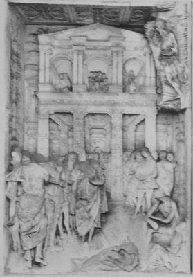 G.Antonio Amadeo (1447-1522 Milano) Certosa di Pavia, (ca.1497) Fassadenrelief Adultera (?)
