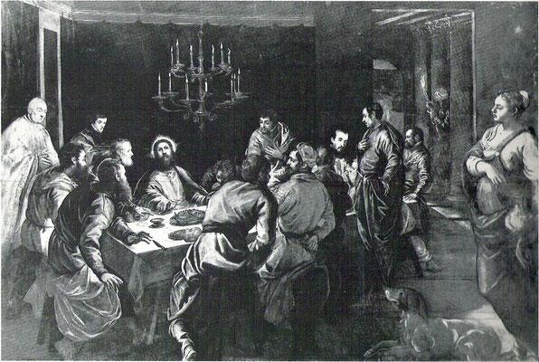6)Jacopo Tintoretto und Gehilfen, Ultima Cena ca.1565/68 Venedig, S.Simeone Profeta