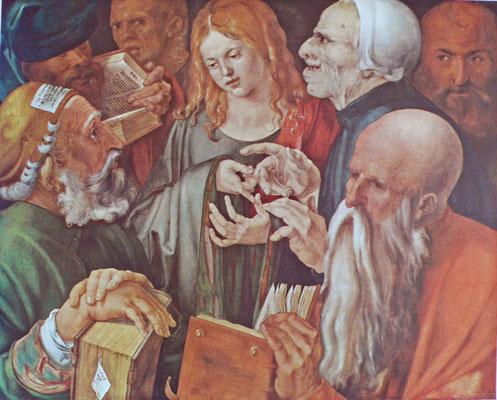Albrecht Dürer(1471-1528), Christus und die Schriftgelehrten, 1506 ,Gall.naz.Barberini