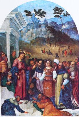 Lodovico Mazzolino (um 1480-1528 Ferrara), Galleria Borghese, Rom, Holz, 29x17cm, ca.1525