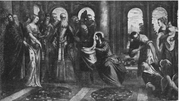 Jacopo Tintoretto und Gehilfen, Erzbisch. Pinacothek Mailand (Lw.158x278cm)