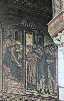 ibidem, Detail: Adultera-Mosaik ca.1180