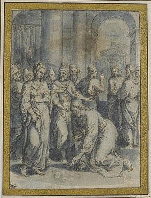 Crispin van den Broeck (Mecheln 1524-1591Antwerpen, Schüler F.Floris') Zeichnung Louvre
