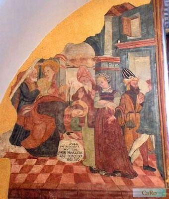 Girolamo & Giovanni Todisco (Abriola, Unteritalien 16./17.Jh) um 1558 Fresco in der Basilicata