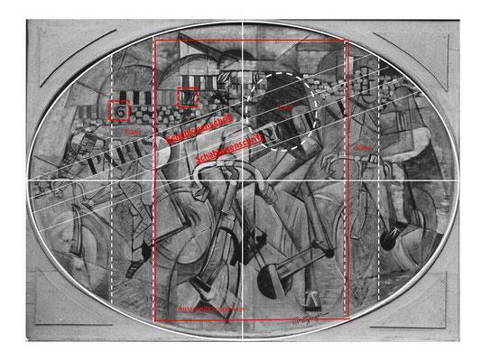 Fälschung Beltracchi nach Metzinger Öl/Lw mit Sand Strukturanalyse