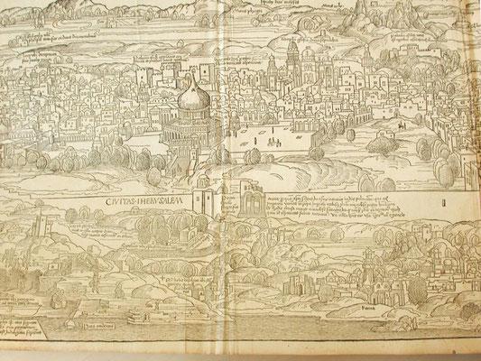 Bernhard v. Breydenbach, Peregrinatio in Terram Sanctam 1486 Holzschnitt Erhard Reuwich