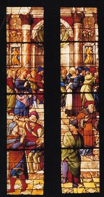 """Guillaume de Marcillat (um 1470-1529), Domfenster in Arezzo, """"MDXXIIII"""""""