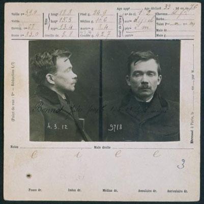 Polizeifoto Jules Bonnot 1912
