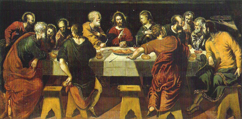 2)Werkstattwiederholung von 1), Ultima Cena ca.1550, Madrid, Ac.d.b.A. San Fernando