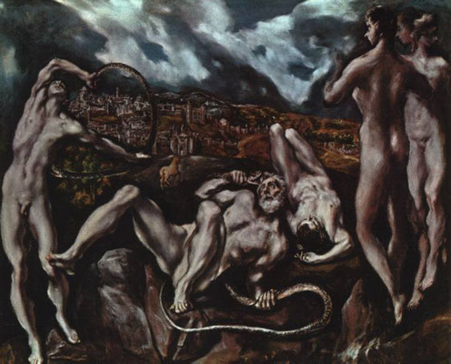 El Greco, Laokoon vor Troja-Toledo, Lw.142x193cm, Washington, National Gallery