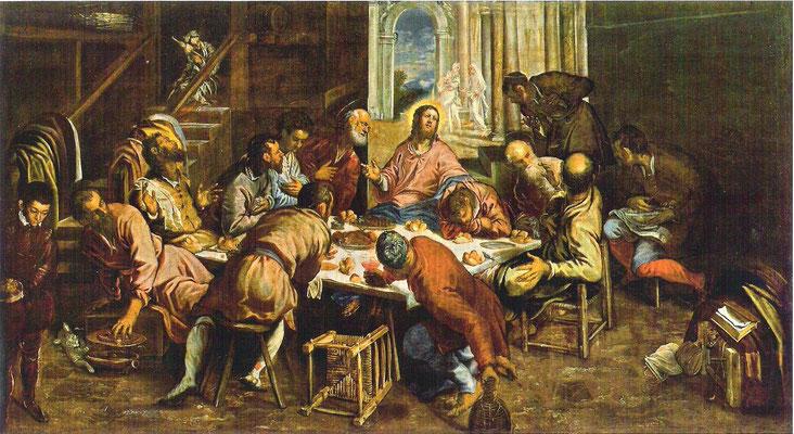 5)Jacopo Tintoretto, Ultima Cena 1563/64, Venedig, San Trovaso