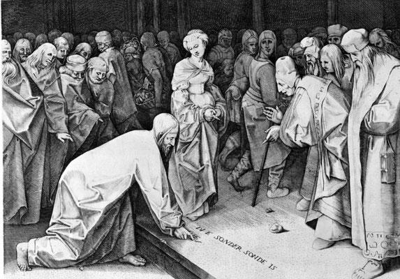 Pieter Breughel d.Ä., Stich von P.Perret  1564/65 (26,9x34,5cm)