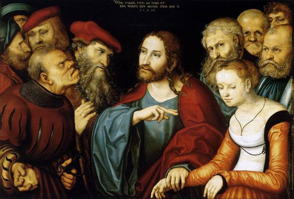 Lukas Cranach d.J.Eremitage St.Petersburg Öl auf Kupfer nach 1532
