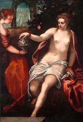 Tintoretto-Bottega (Domenico), Susanna, Washington MoA
