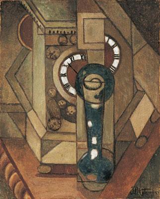 Jean Metzinger 1912/13, nature morte à l' horloge:(ev. 4.dimension) Öl/Lw.41x33cm ,Privat