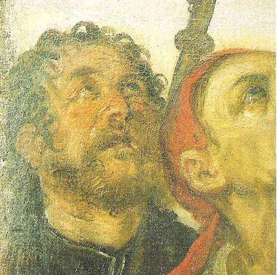 Bamberger Himmelfahrt, Detail: Tintoretto als Apostel Jacobus