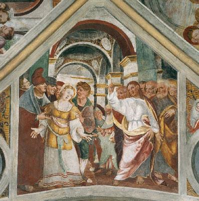 Francesco da Milano (1502-42 tätig im Friaul), Fresko, Kreuzkuppelvierung Roganzuolo um1530