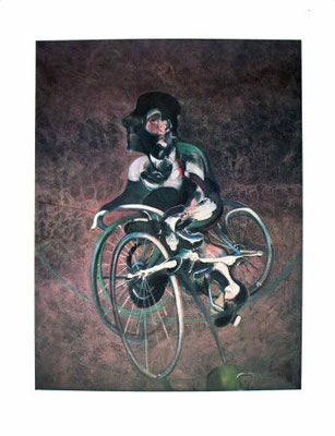 Francis Bacon (1909-1992) Georges Dyer on Bike 1966, Stern Coll.NY
