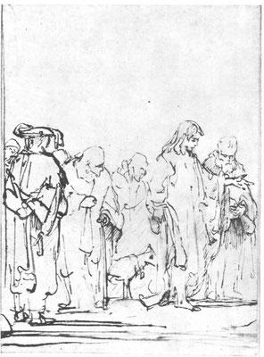 Rembrandt van Rijn, Zeichnung zur Londoner E.? Amsterdam Sammlung Fodor