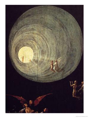 Hieronymus Bosch, Aufstieg zum Himmel (Detail), Venedig Pal.Ducale 1500-04 Holztafel 87x40