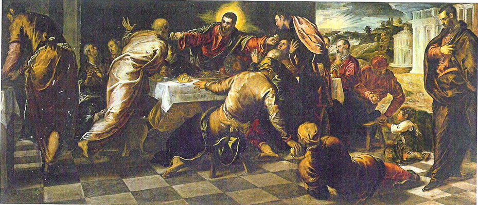 8)Jacopo Tintoretto, Ultima Cena 1574/75, Venedig, San Polo