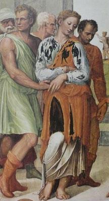 Bartolomeo Neroni, il Riccio(ca.1500-1571Siena) 1536 Fresko in Monteoliveto Detail