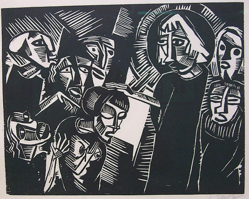 Karl Schmidt- Rottluff (1884-1976) Holzschnitt 1918