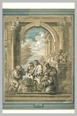 Erasmus Quellin II (1607-1678 Anwerpen, Rubens-Nachfolge) Entwurf Louvre