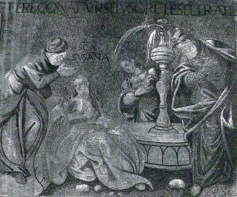 Entwurf der Tintoretto-Bottega , Susanna-Episode, Lorenzo Ceccato (Mosaizist),  Venedig, Bas.San Marco