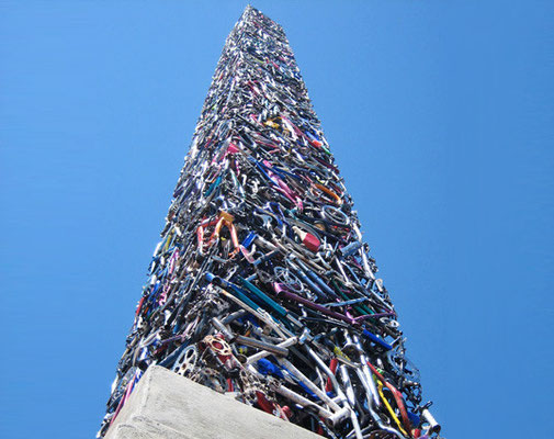 Marc Grieve & Ilana Spector, Cyclisk, Santa Rosa (340 bikes-obelisk) 2010