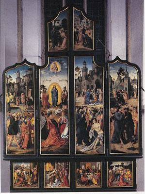 Meister v.Linnich (Antwerpen,1.3. 16.Jh.) St.Martin, Linnich (Jülich) mit Samariterin zuoberst